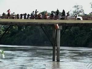 Corpo de grávida teria sido esquartejado e jogado no Rio Itacaiunas, em Parauapebas. (Foto: Reprodução/TV Liberal)