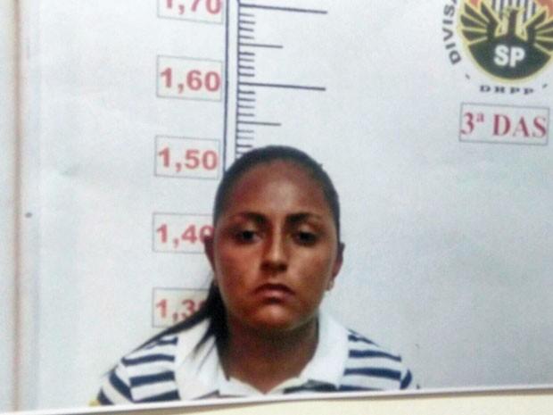 Joyce Costa Souza dos Santos em foto apresentada pela polícia (Foto: Carolina Dantas/G1)