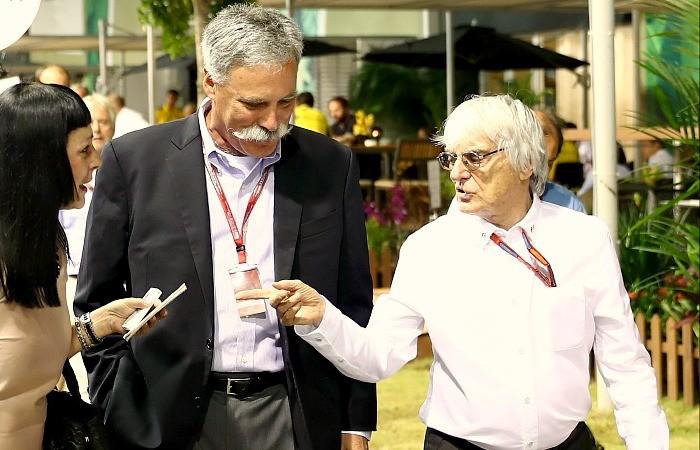 Bernie Ecclestone e Chase Carey