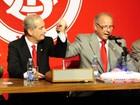 Inter e AG assinam contrato com pompa  e muita emoção (Alexandre Lops/Divulgação Inter)