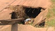 Buracos e bueiros abertos nas ruas de Santarém podem causar acidentes