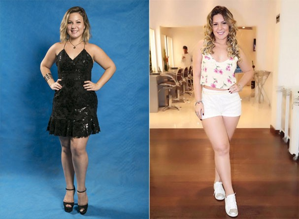 Antes e depois da ex-BBB Cacau (Foto: Reprodução/Instagram)