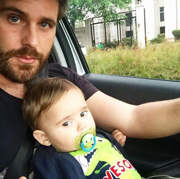 Thiago Gagliasso com o filho Gabriel (Foto: Reprodução / Instagram)