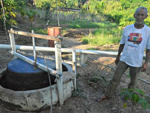 Equipamento tem capacidade para acumular até 500 litros (Foto: Adelcimar Carvalho/G1)