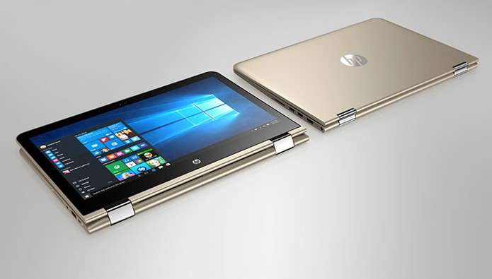 Pavilion x360 possui tela dobrável para ser usado em modo tablet (Foto: Divulgação/HP)