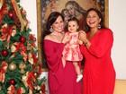 Fafá e Mariana Belém comemoram o primeiro Natal da pequena Laura