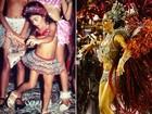 Desde pequena Carol Castro já era fã de samba no pé e carnaval; fotos!