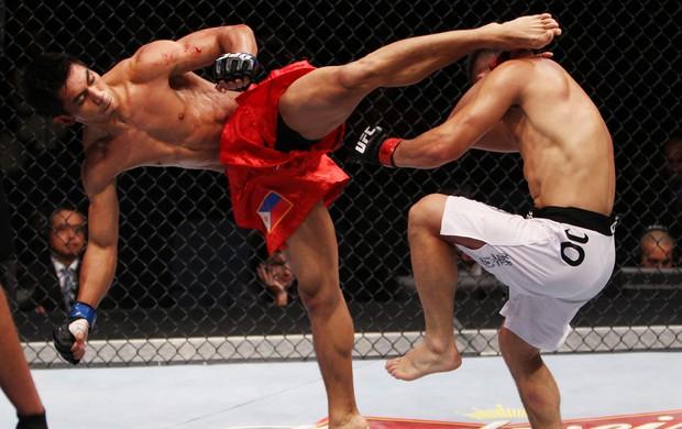 UFC Jumabieke Tuerxun e Mark Eddiva (Foto: Agência Getty Images)