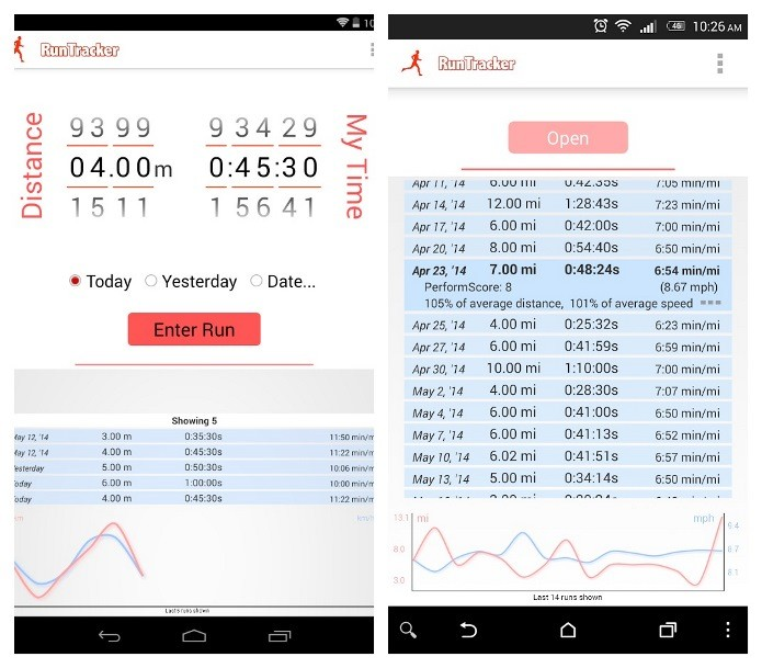 O Simple Run Tracker permite o usuário a analisar o seu progresso (Foto: Divulgação)
