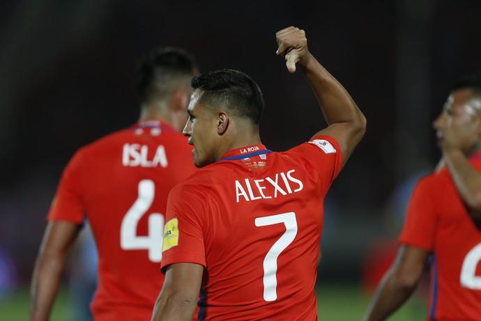 Alexis Sánchez, Chile x Uruguai (Foto: AP Foto/Luis Hidalgo)