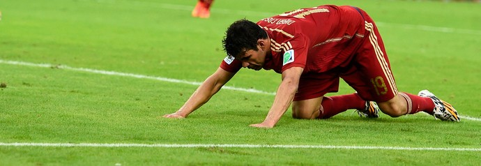 Diego Costa jogo Espanha x Chile (Foto: Reuters)