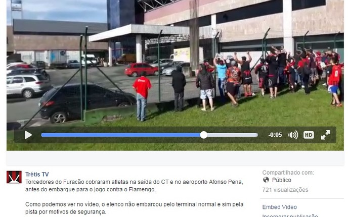 protesto aeroporto atlético-pr  (Foto: Reprodução/Facebook)