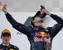 Shoey! Ricciardo bebe champanhe na sapatilha e oferece a pilotos no pódio