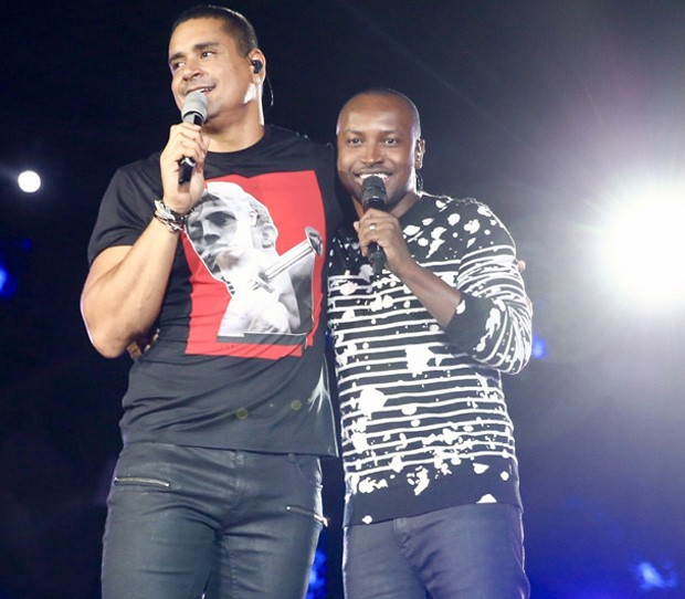 Xanddy e Thiaguinho (Foto: Manuela Scarpa/Brazil News)