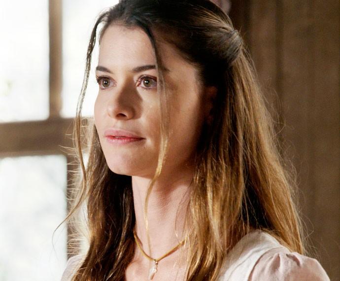 Lívia revela a Gema seu plano (Foto: TV Globo)