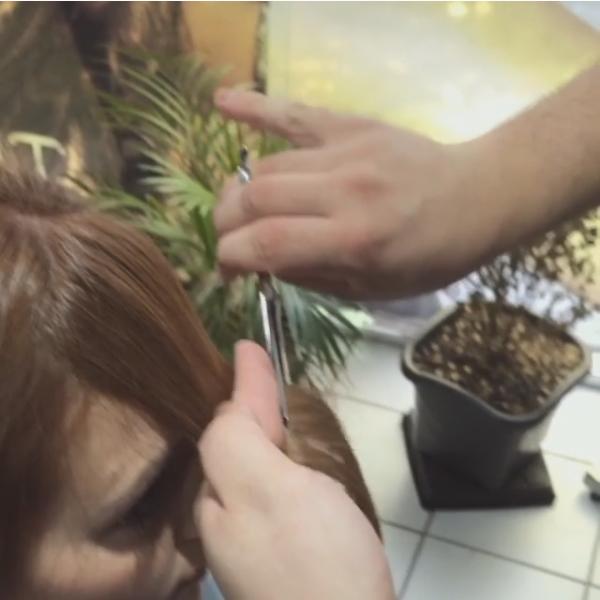 Tamires Pelosos corta os cabelos (Foto: Reprodução/Instagram)