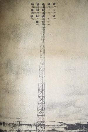 Refletor do Estádio Plínio Lemos, antiga casa do Campinense (Foto: Acervo do Campinense)