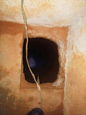Túnel foi encontrado no Pavilhão 4 (Foto: Divulgação/Coape)