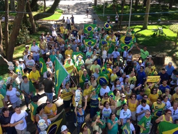 Organização contabilizou 800 pessoas em São José (Foto: Arquivo Pessoal/Luan Martins)