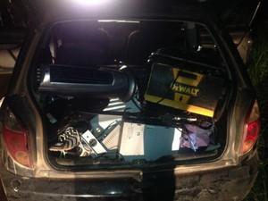 Assalto a haras termina em troca de tiros entre polícia e criminosos (Foto: Divulgação/ Polícia Militar)