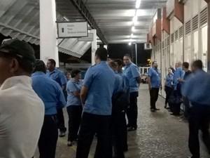 Motoristas da empresa que faz transporte intermunicipal na região de Campinas (Foto: Reprodução EPTV)
