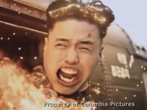 Cena do filme 'A entrevista' que mostra a morte da versão fictícia do ditador da Coreia do Norte, Kim Jong-un (Foto: Reprodução/Sony Pictures/The Telegraph)