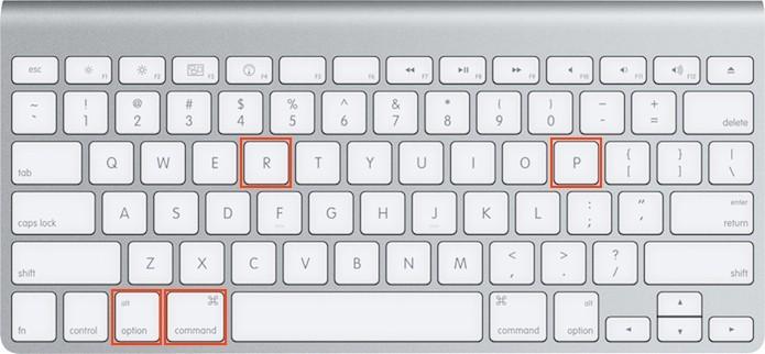 Pressionando as teclas Command + Option + P + R no teclado do Mac (Foto: Reprodução/Edivaldo Brito)