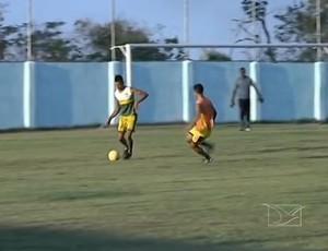 Sabiá-MA treina no Estádio Duque de Caxias (Foto: Reprodução/TV Mirante)