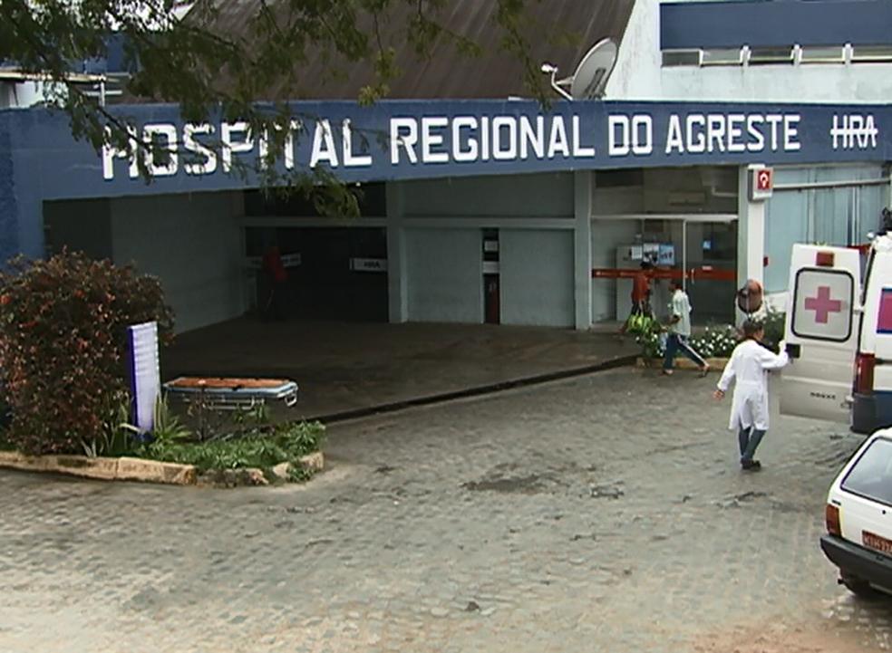 Hospital Regional do Agreste, em Caruaru, Pernambuco (Foto: Reprodução/ TV Asa Branca)