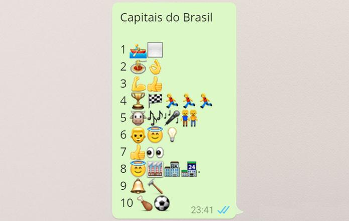Emojis Capitais do Brasil (Foto: Reprodução/Isabela Giantomaso)