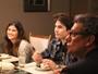 Miguel e Ciça discutem durante jantar em família