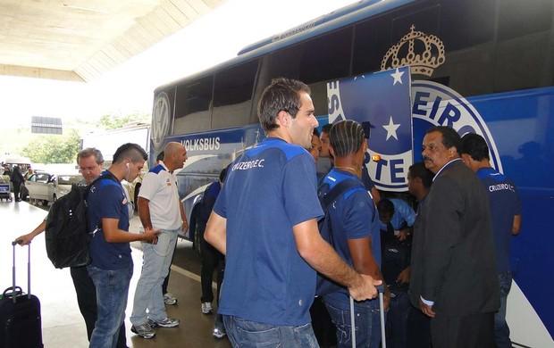 Embarque time do Cruzeiro (Foto: Ana Paula Moreira / Globoesporte.com)