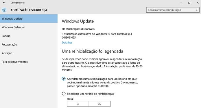 Verifique por atualizações do Windows 10 (Foto: Reprodução/Barbara Mannara)