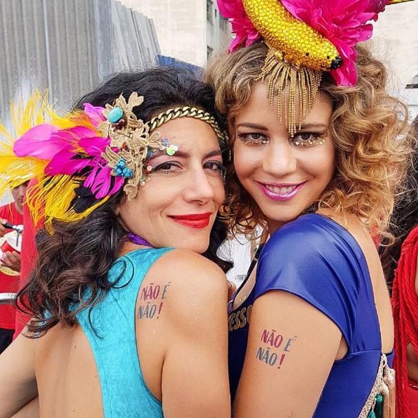 Não é não: tatuagem temporária para o Carnaval (Foto: Instagram/Reprodução)