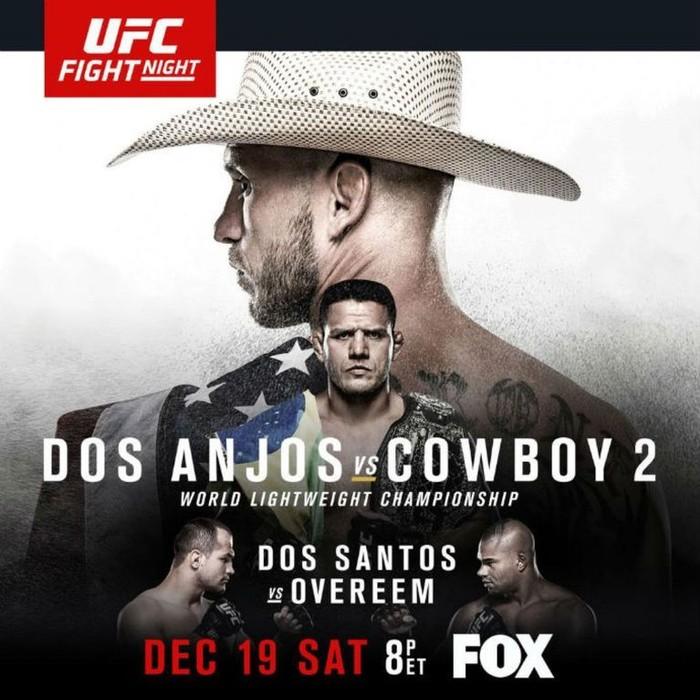 Pôster UFC: Dos Anjos x Cerrone (Foto: Divulgação UFC)