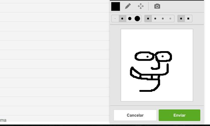 Opção de desenho incorporada no Hangouts (Foto: Reprodução/André Sugai)