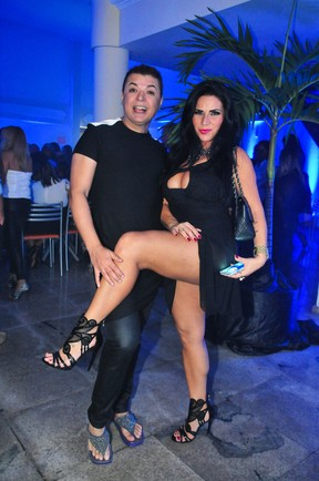 Solange Gomes e David Brazil em festa no Rio (Foto: Marcos Fernandes/ Divulgação)