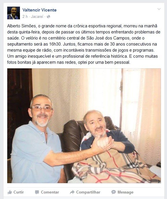 Valtencir Vicente Alberto Simões (Foto: Reprodução/Facebook)