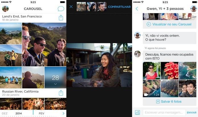 Salve suas fotos e vídeos automaticamente no Dropbox com Carousel (Foto: Divulgação/AppStore)