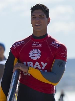 Gabriel Medina antes da 2ª fase da etapa de Jeffreys Bay  (Foto: WSL )