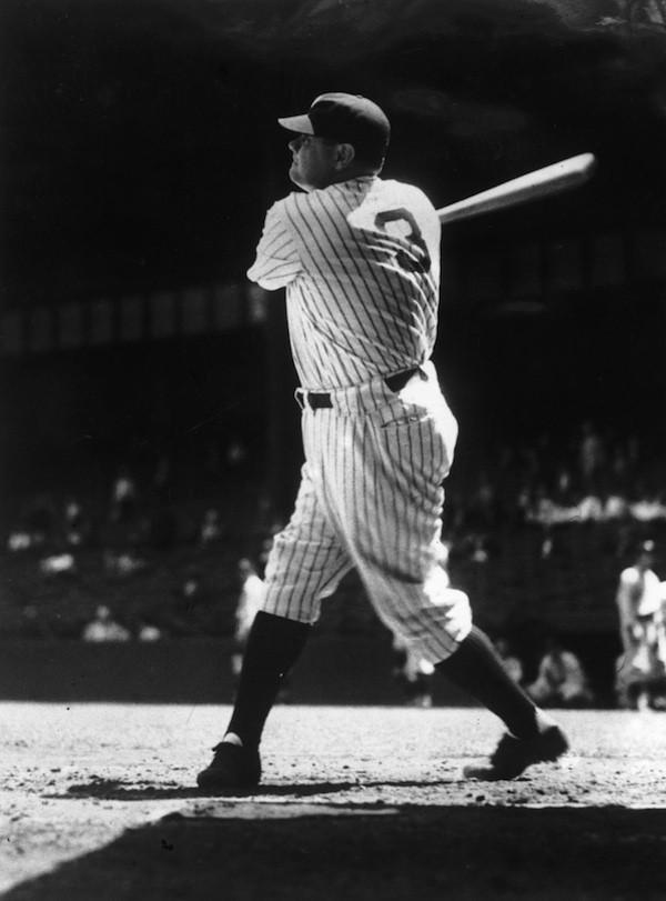 O lendário jogador de beisebol Babe Ruth (Foto: Getty Images)