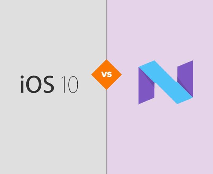iOS 10 contra Android N: qual é o melhor novo sistema móvel? (Foto: Arte/TechTudo)