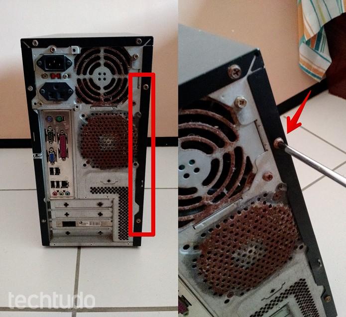 Removendo a tampa lateral do gabinete  (Foto: Felipe Alencar/TechTudo)