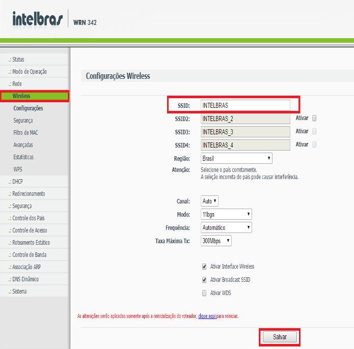 ebcff96f60 Defina um nome para sua rede wireless (Reprodução Diego Honorato)
