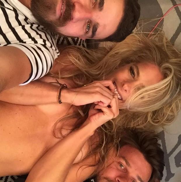 Thiago Fortes, Adriane Galisteu e Robson Almeida  (Foto: Reprodução/Instagram)