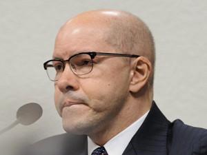 O senador Demóstenes Torres (sem partido-GO), no Conselho de Ética (Foto: Pedro França/Agência Senado)
