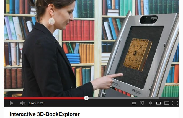 Explorador interativo de livros em 3D foi desenvolvido pelo Instituto Fraunhofer (Foto: Reprodução)