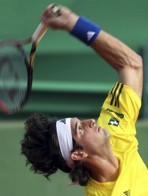 Thomaz Bellucci conta Giraldo na Copa Davis (Foto: Reuters)