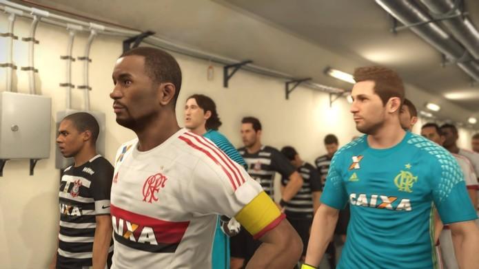 Times brasileiros estarão oficialmente em PES 2017 (Foto: Reprodução/Felipe Vinha)