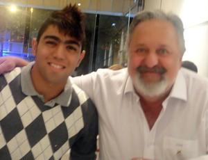 Gabigol e Luis Alvaro Ribeiro Santos (Foto: Arquivo Pessoal)